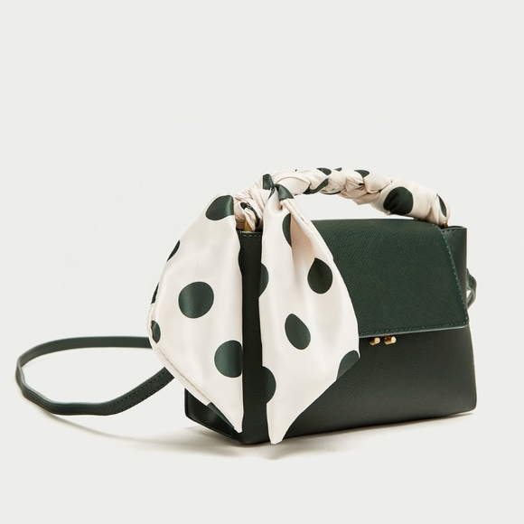c7e25cd5e Zara Bags | Mini City Bag With Polka Dot Print | Poshmark
